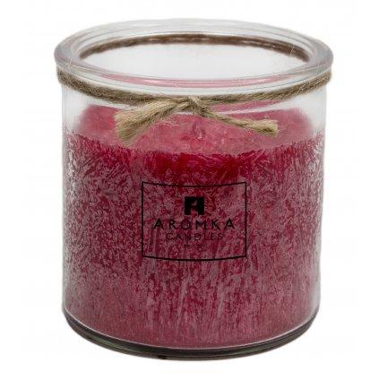 Přírodní vonná svíčka palmová - AROMKA - Recyklované sklo, 250 ml - Vánoční Punč