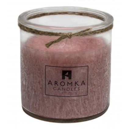 Přírodní vonná svíčka palmová - AROMKA - Recyklované sklo, 250 ml - Brazilská Papaya