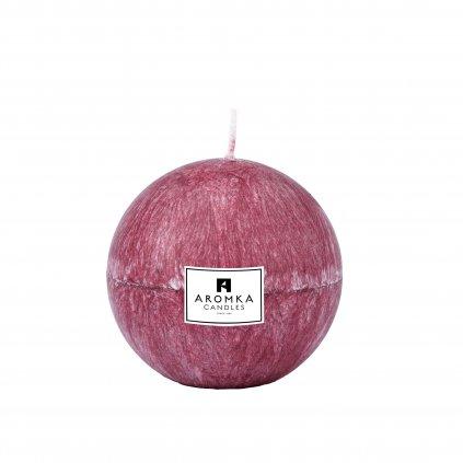 Přírodní vonná svíčka palmová - AROMKA - Koule, 7 cm - Ostružina