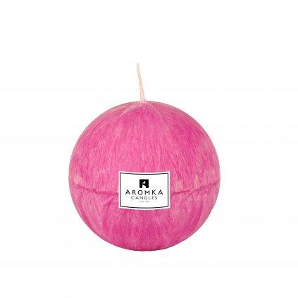 Přírodní vonná svíčka palmová - AROMKA - Koule, 7 cm - Divoká Brusinka