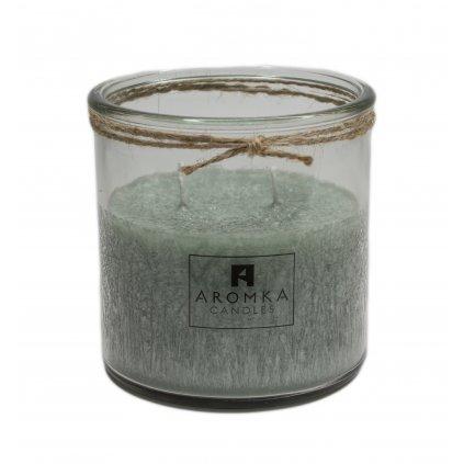 Přírodní vonná svíčka palmová - AROMKA - Recyklované sklo, 500 ml - Kopřiva