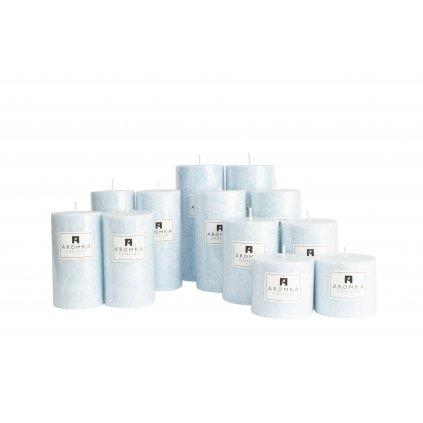 Přírodní vonná svíčka palmová - AROMKA - Sada 12 válců v průmyslovém balení  - Bílý Čaj