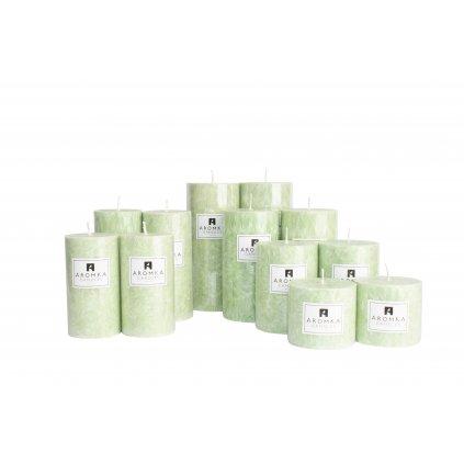 Přírodní vonná svíčka palmová - AROMKA - Sada 12 válců v průmyslovém balení  - Květ Lípy