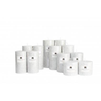 Přírodní vonná svíčka palmová - AROMKA - Sada 12 válců v průmyslovém balení  - Pánský Parfém