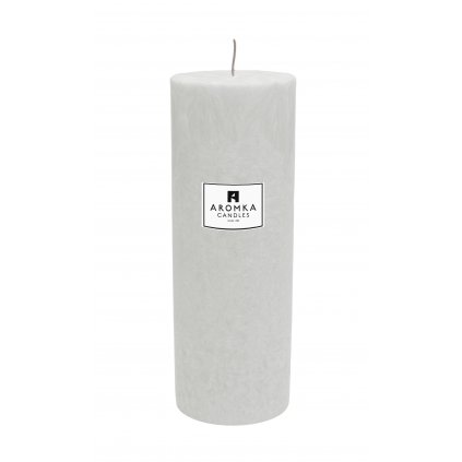 Přírodní vonná svíčka palmová - AROMKA - Válec, průměr 6,4 cm, výška 17,5 cm - BEZ VŮNĚ