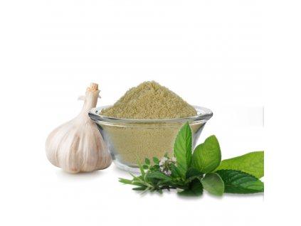 Práškové aroma česnek a bylinky