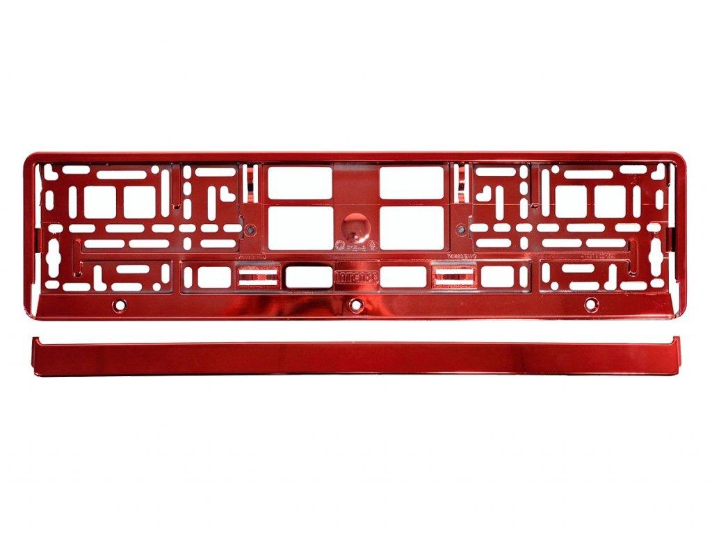 Podložka pod SPZ RED metallic 1