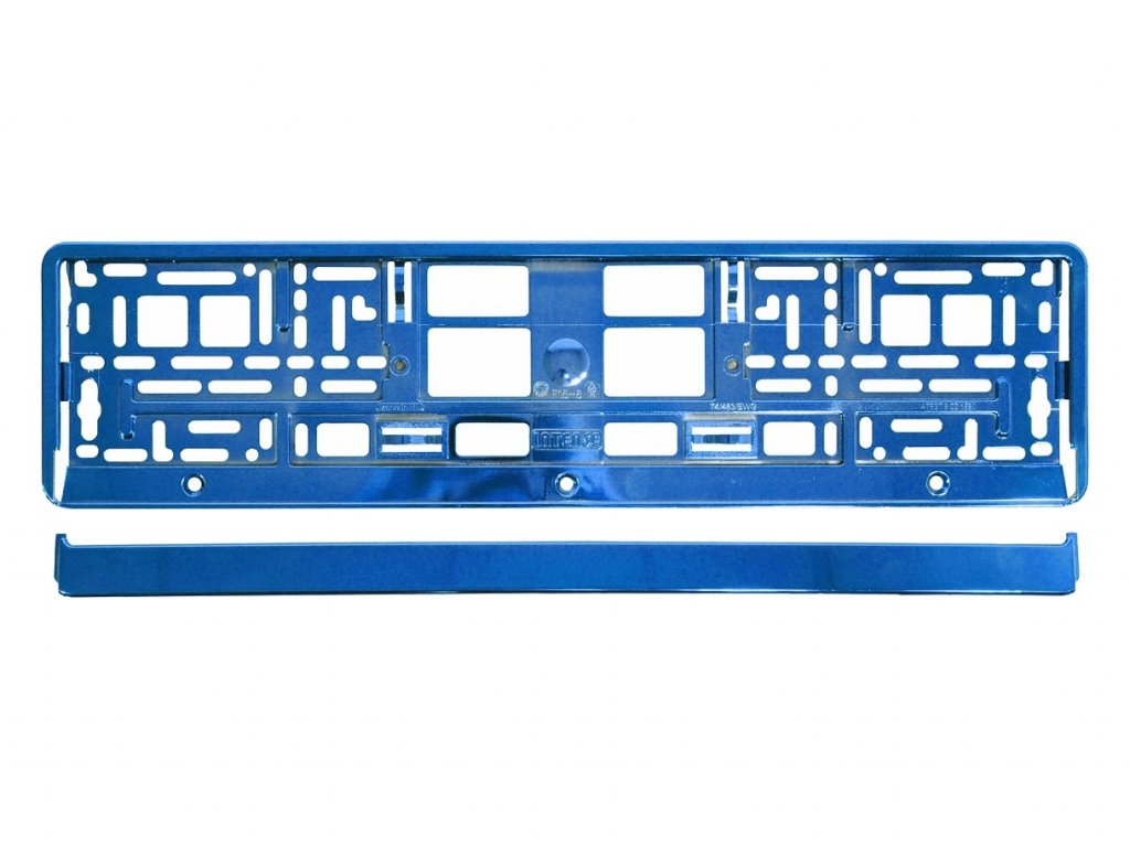 Podložka pod SPZ BLUE metallic 1