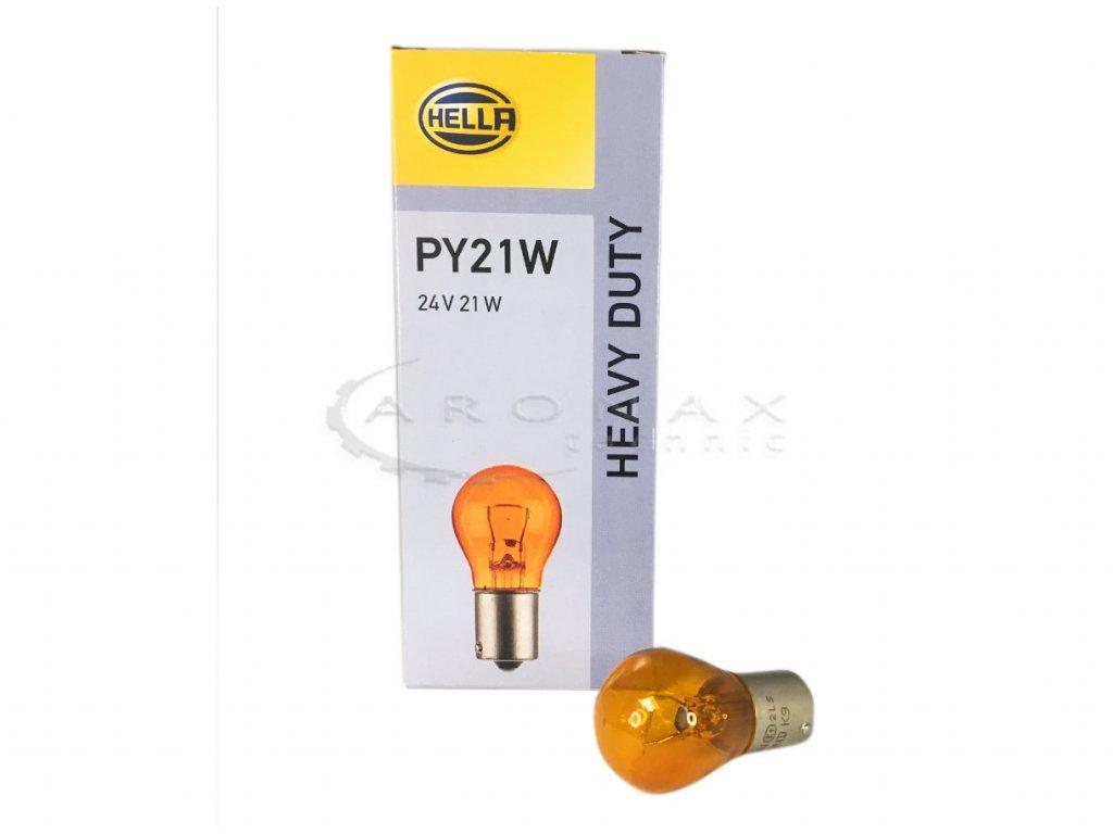 Žárovka 24V/ 21W BA15s  PY21W oranžová