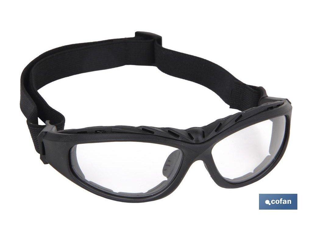 Tmavě polstrované ochranné brýle 4 v 1 C