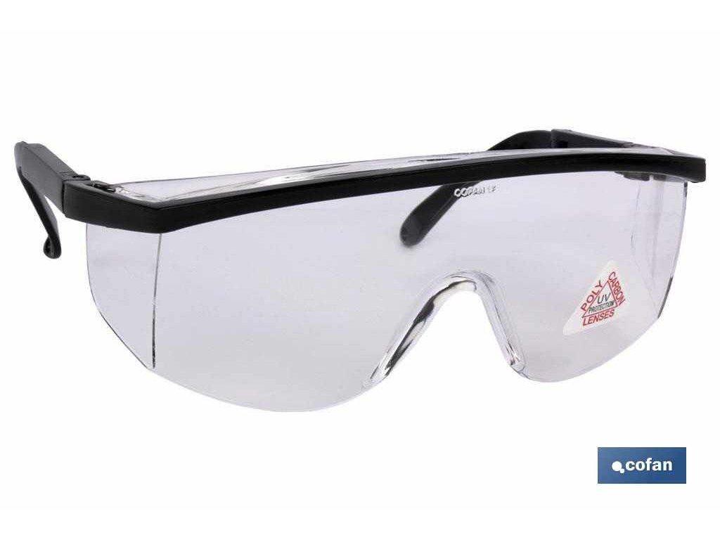 Ochranné brýle standardní, transparentní bílá, UNE EN 166F A