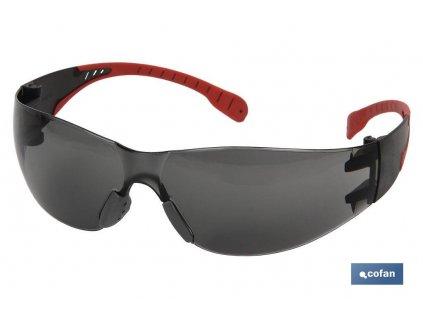 Superlehké ochranné brýle tmavé 18g A