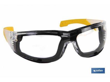 Bezpečnostní brýle s oddělávacím pěnovým těsněním A