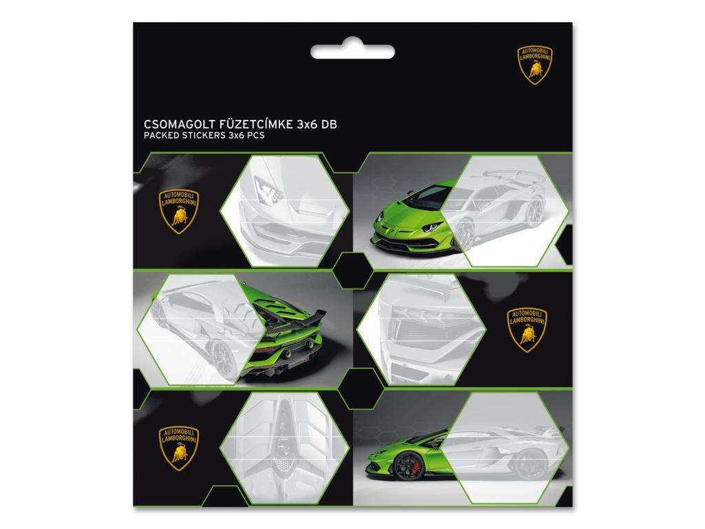 Jmenovky na sešity Lamborghini 20 18ks