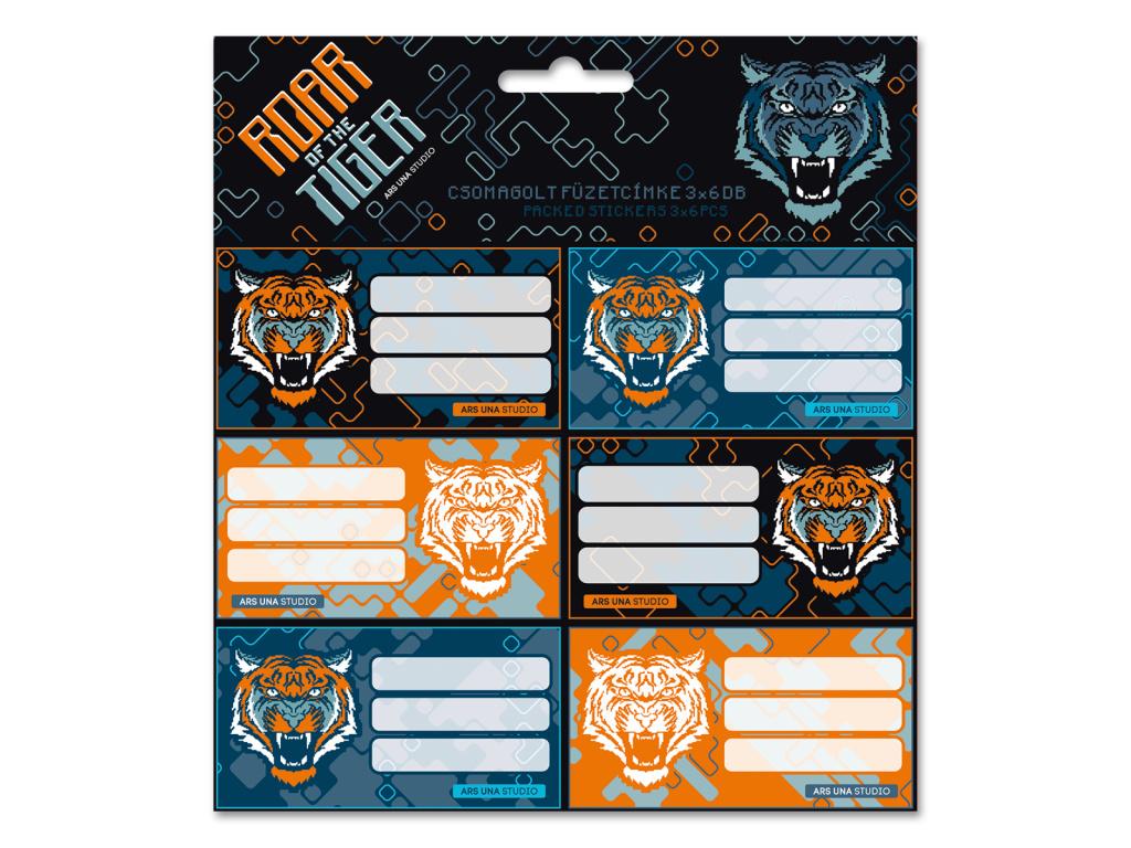Jmenovky na sešity Roar of the Tiger