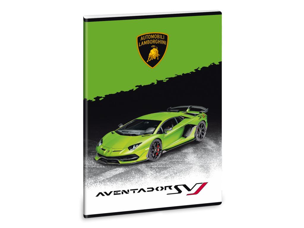 Ars Una Sešit Lamborghini 20 zelené A4 linkovaný