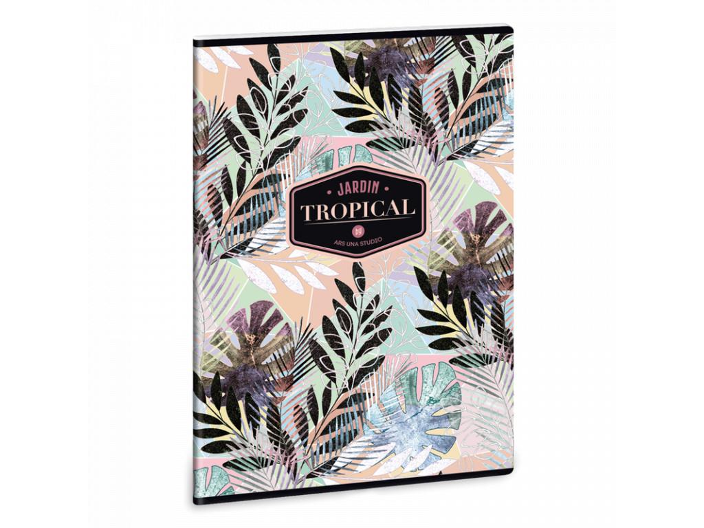 Ars Una Sešit Tropical Leaf A4 linkovaný