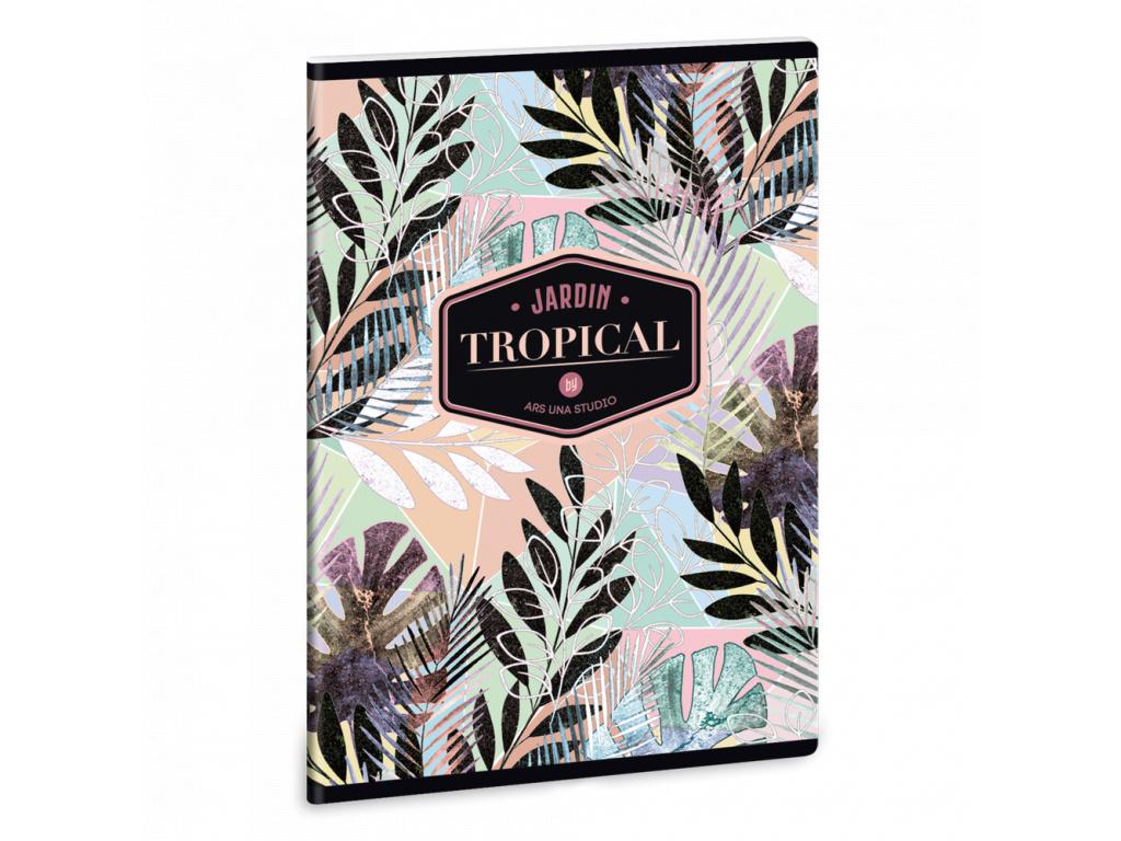 Ars Una Sešit Tropical Leaf A5 linkovaný