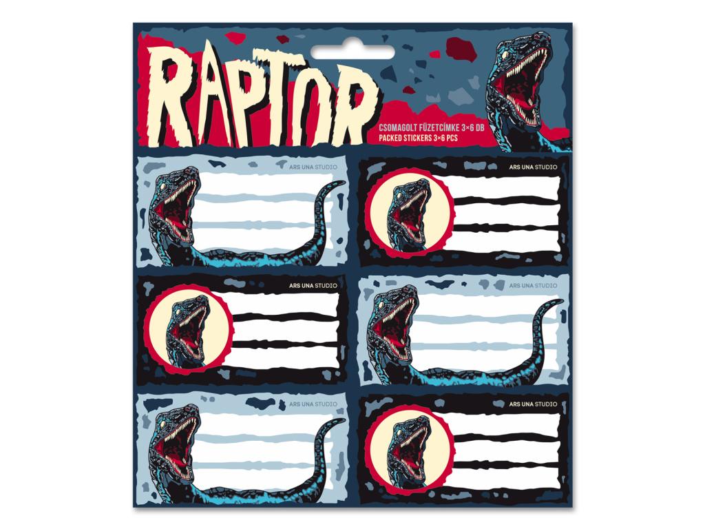 5342 jmenovky na sesity raptor 18ks