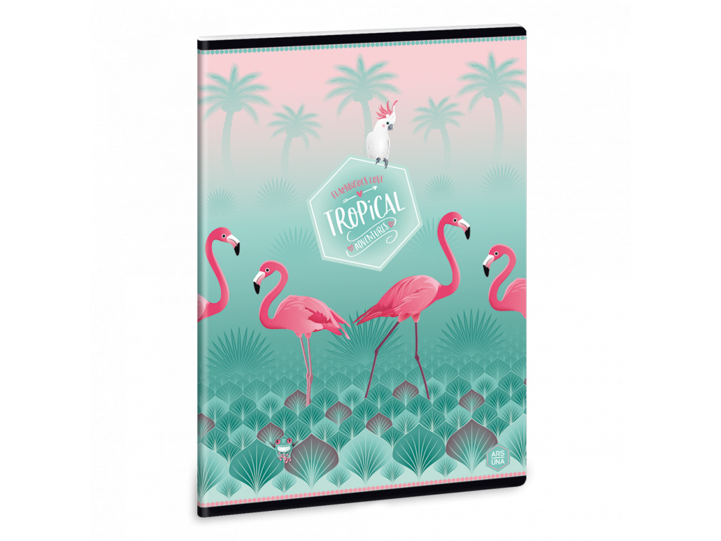 5565 sesit pink flamingo a5 linkovany