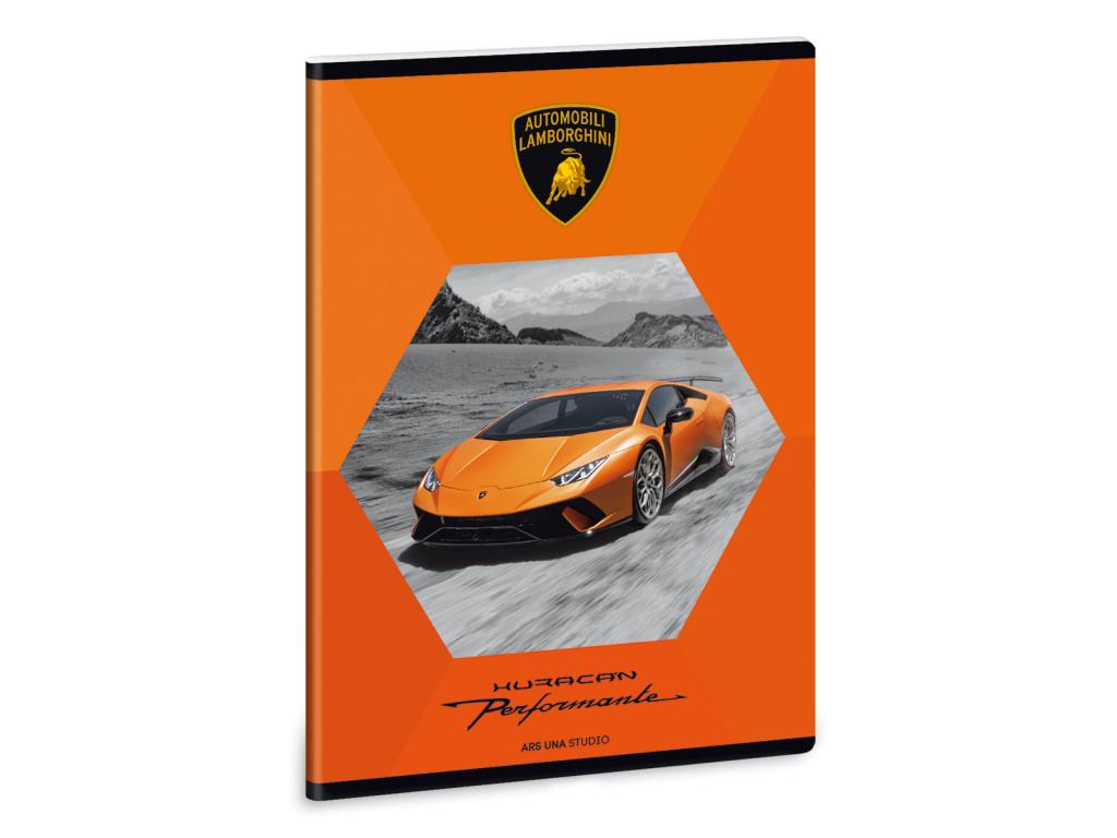 Sešit Lamborghini Orange A5 linkovaný
