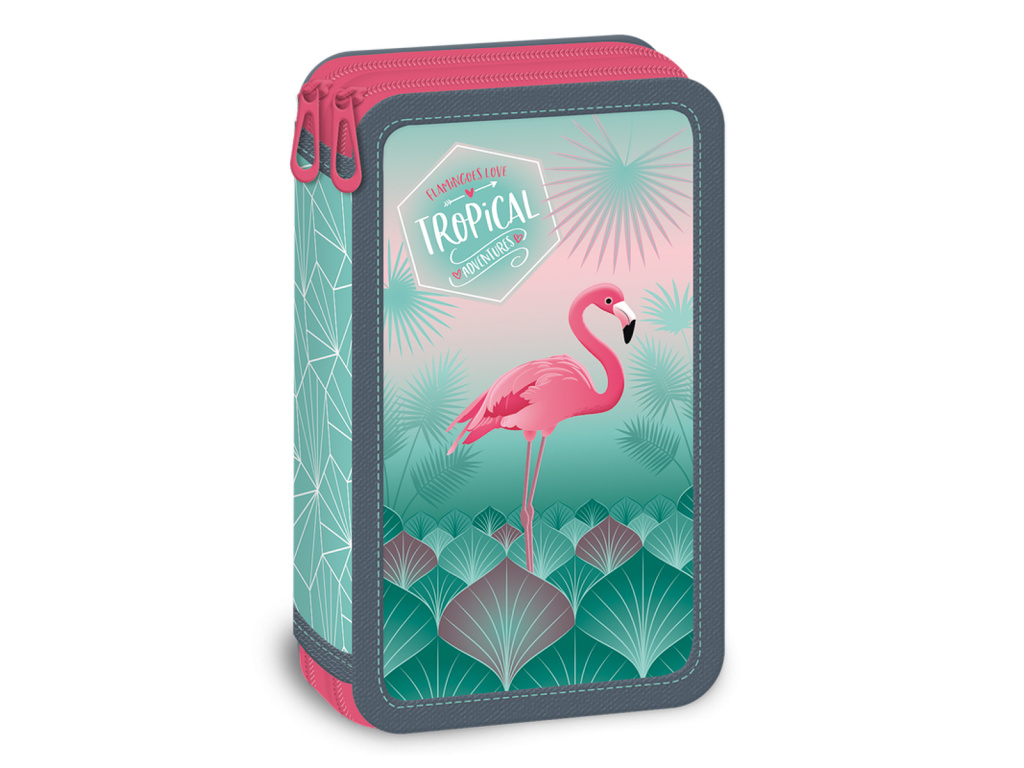 3011 penal pink flamingo dvoupatrovy
