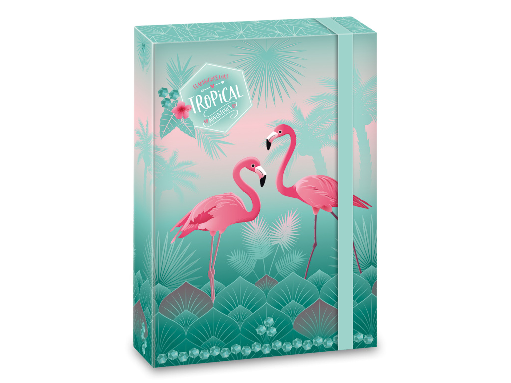 3347 box na sesity pink flamingo a5