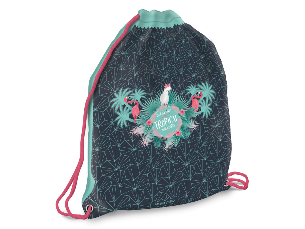 3353 ars una sacek na prezuvky pink flamingo
