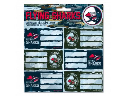 Jmenovky na sešity Flying Sharks
