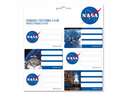 Jmenovky na sešity NASA 18ks