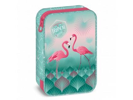 3008 skolni penal pink flamingo