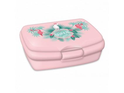 3215 box na svacinu pink plamingo