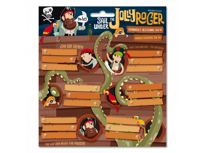 Ars Una Jmenovky na sešity Pirát Jolly Roger 18ks