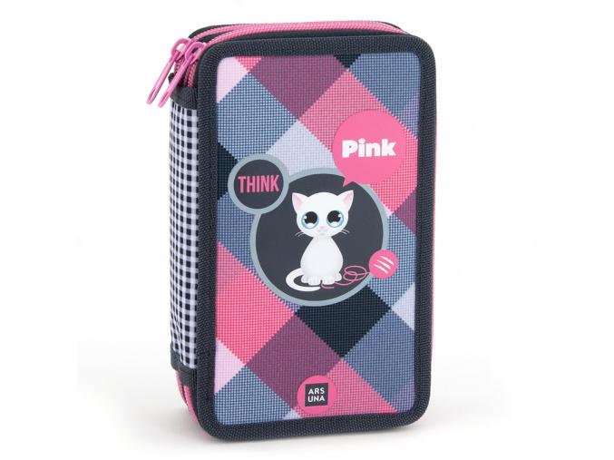Ars Una Penál Think Pink kočky dvoupatrový