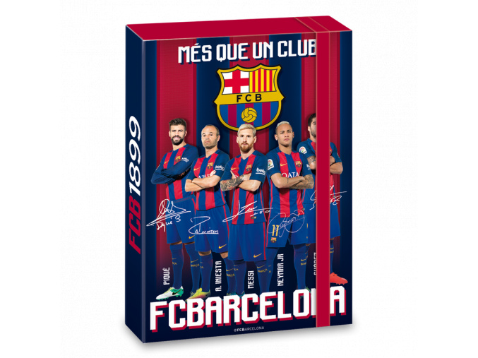 Box na sešity FC Barcelona A5 hráči