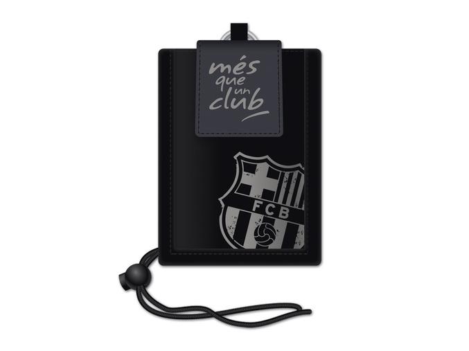 Peněženka na krk FC Barcelona černá