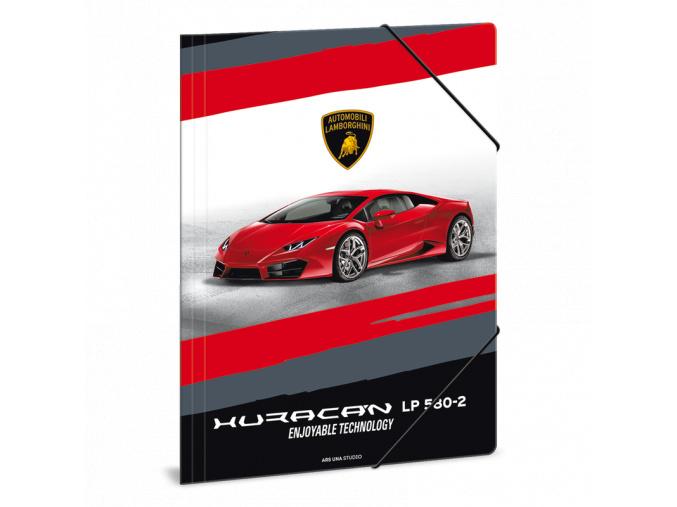 Složka na sešity Lamborghini červené A4