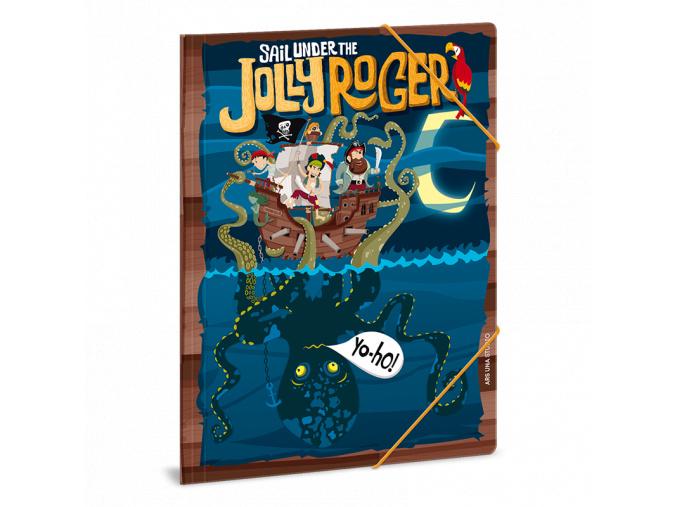 Složka na sešity Pirát Jolly Roger A4