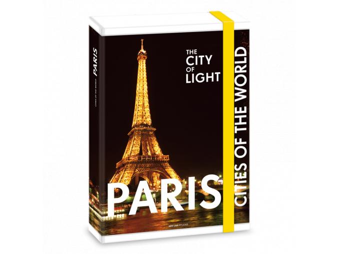 Box na sešity Paříž v noci A4
