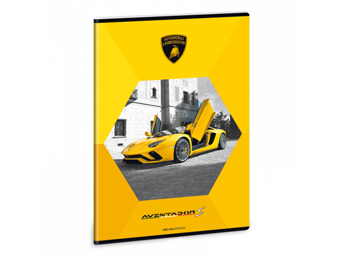 Ars Una Sešit Lamborghini žluté A4