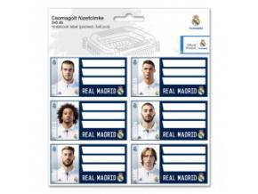 Jmenovky na sešity Real Madrid 3x6 ks