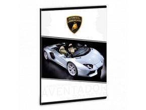 Sešit Lamborghini Aventador čtverečkovaný