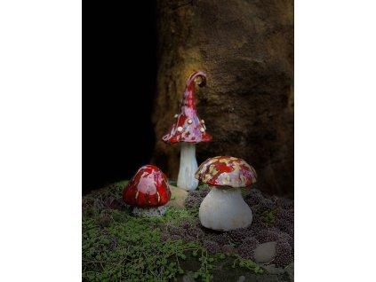 Keramické houby červené