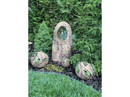 Keramická zvonice na zahradu