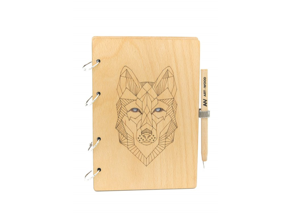 Dřevěný blok - vlk