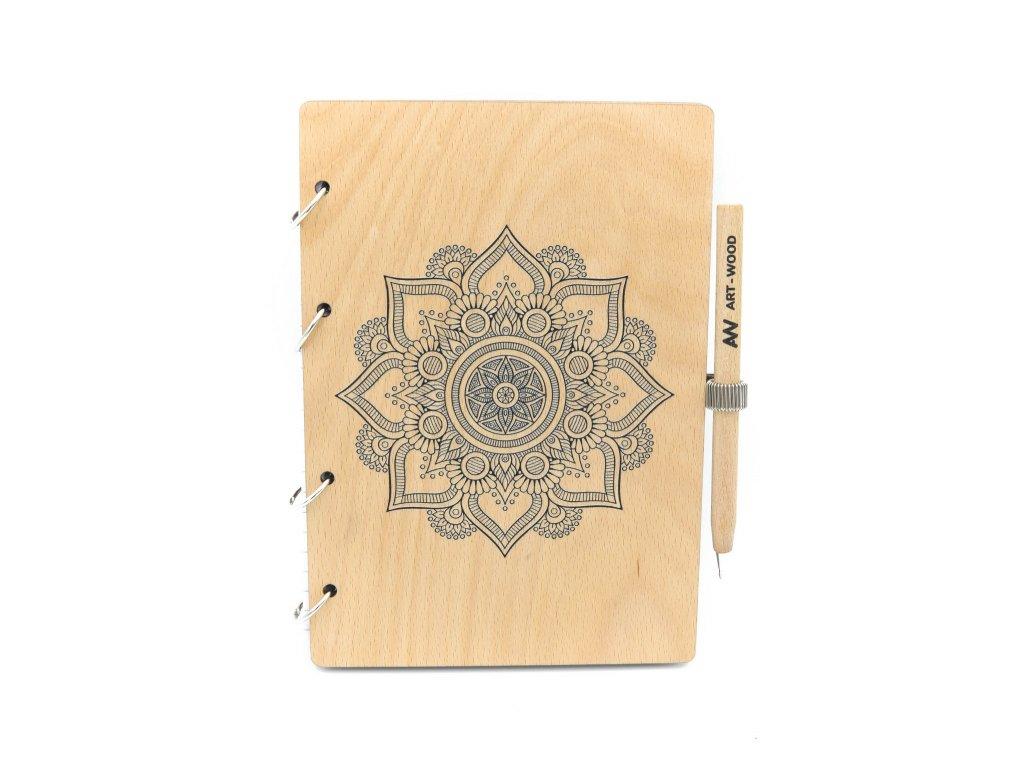Dřevěný blok - mandala