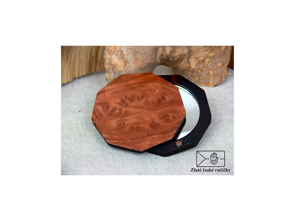 Dřevěné zrcátko - Red wood