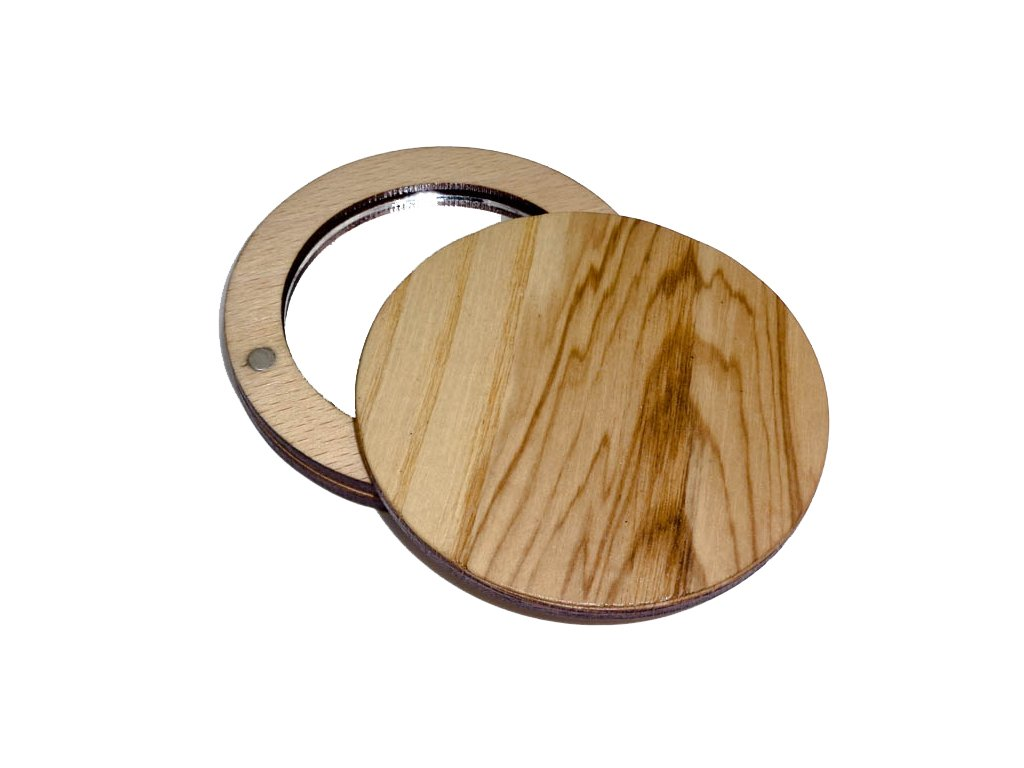 Dřevěné zrcátko - Jasan