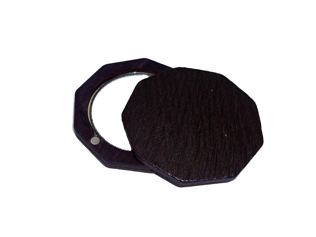 Dřevěné zrcátko - Black wood