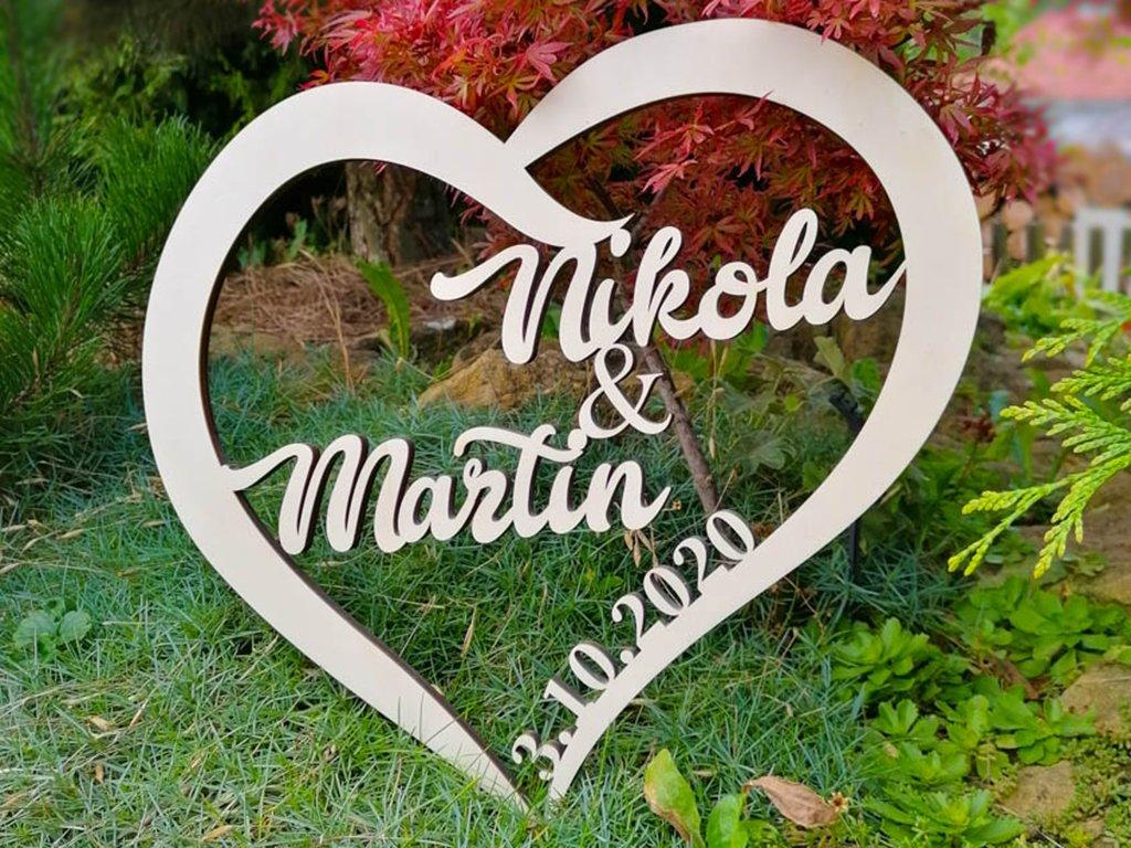 Svatební dekorace -srdce